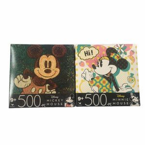 Disney Two 500 Piece Puzzles Mickey Minnie Mouse